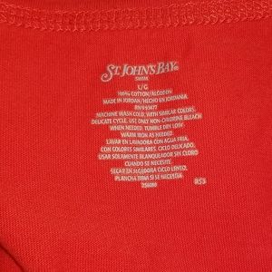 St. John's Bay Swim - St. John's Bay Red Tank Top Dress Swim Coverup